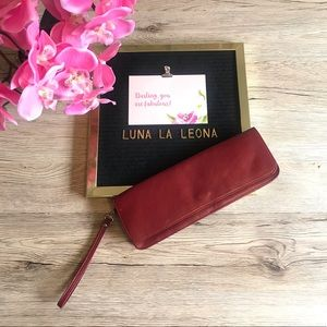Wilsons Leather Pelle Studio Clutch Wristlet